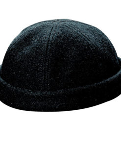 Melton Wool Beanie Black