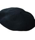 Classic Wool Beret Black
