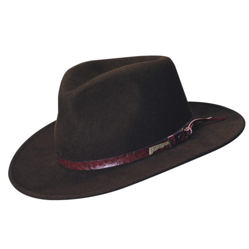 Indiana Jones Wool Felt Outback Hat with Tails
