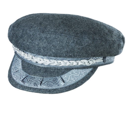 Wool Blend Greek Fisherman Hat Grey