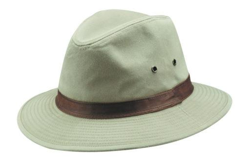 Khaki Water Repellent Garment Washed Twill Safari Hat
