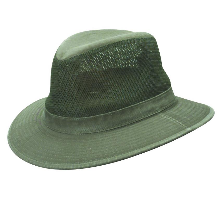 58c614685c1 Olive Garment Washed Twill Safari Hat with Mesh Sidewall (Small Brim)