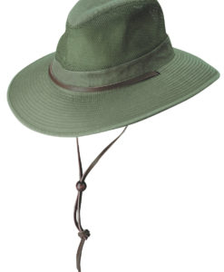 Olive Garment Washed Twill Safari Hat with Mesh Sidewall