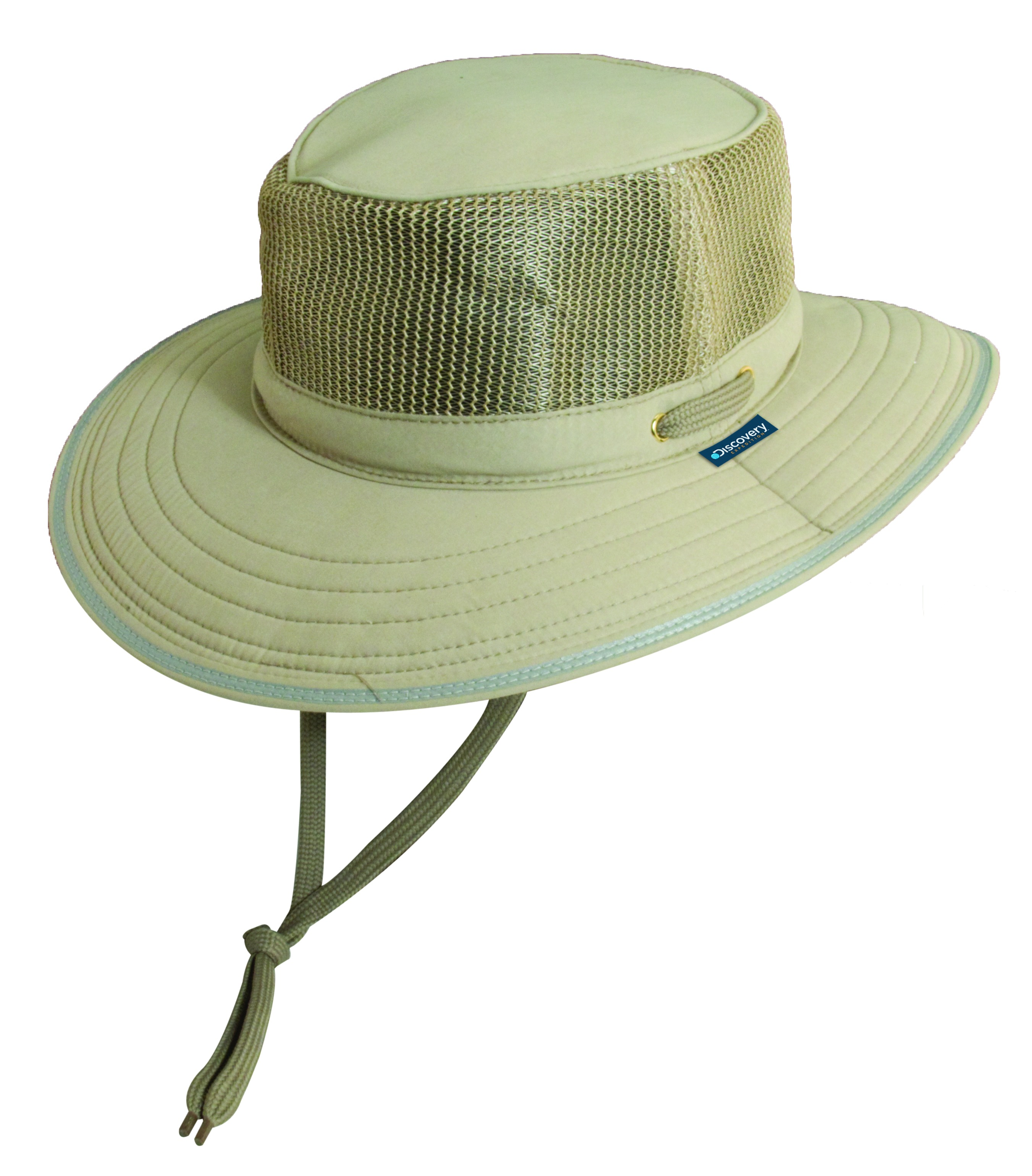 Khaki Discovery Expedition Microfiber Boonie Hat With Mesh Sides 1334da1b1d6