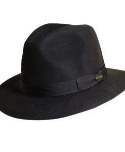 Wool Felt Safari Hat with Grosgrain Trim Chocolate