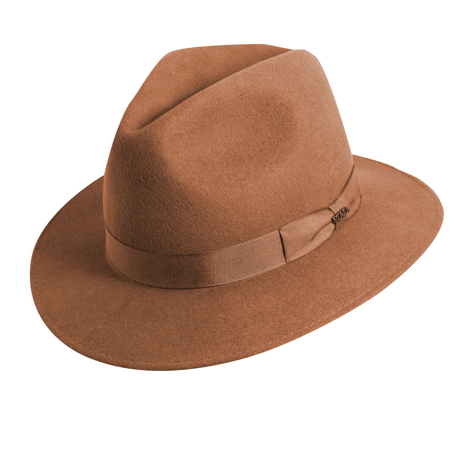 5f35a5dcf3b Wool Felt Safari Hat with Grosgrain Trim Pecan