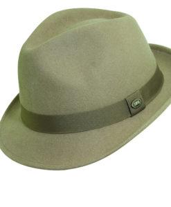 Wool Felt Fedora Hat Putty