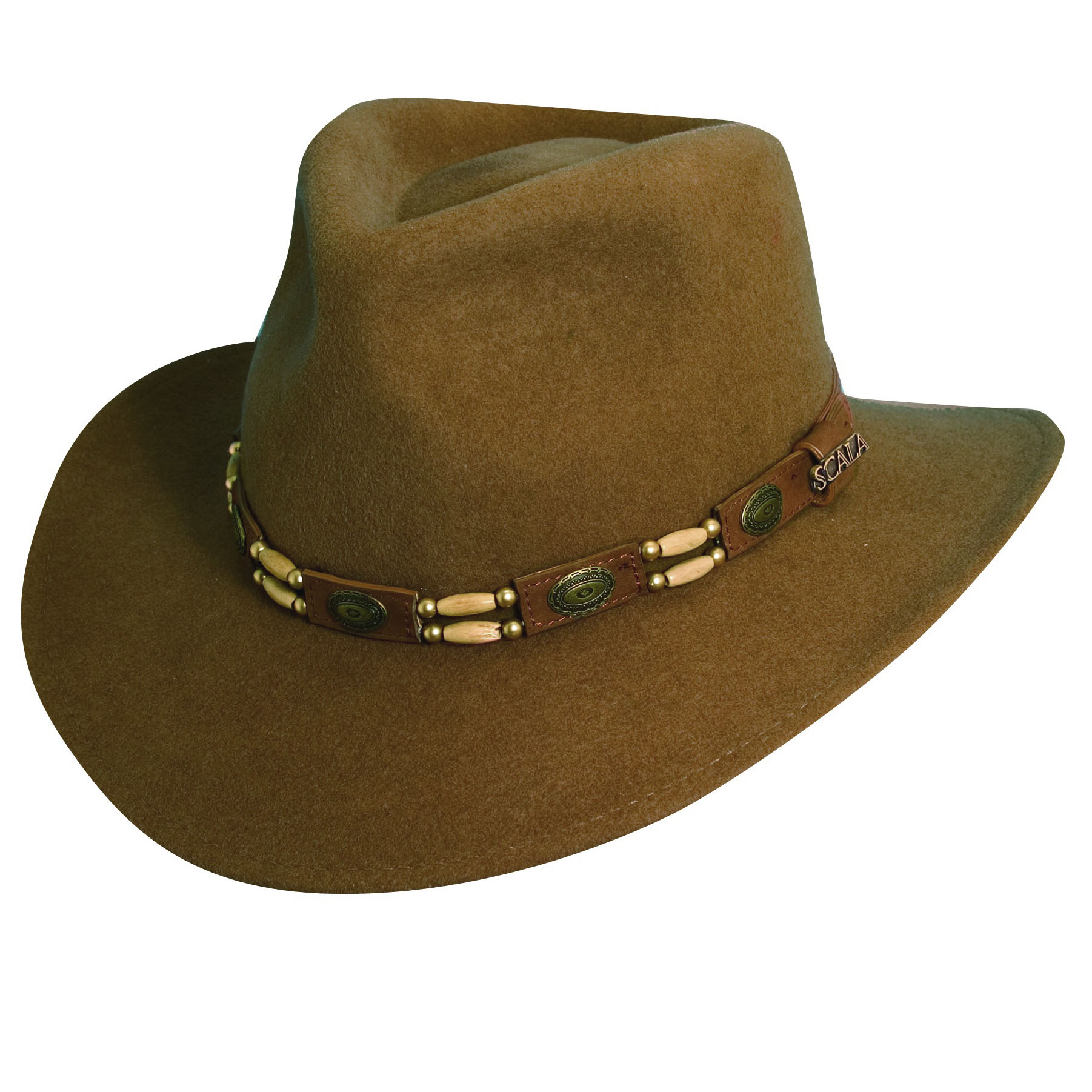 6e135dd9317b77 Wool Felt Outback Hat with Beads | Explorer Hats