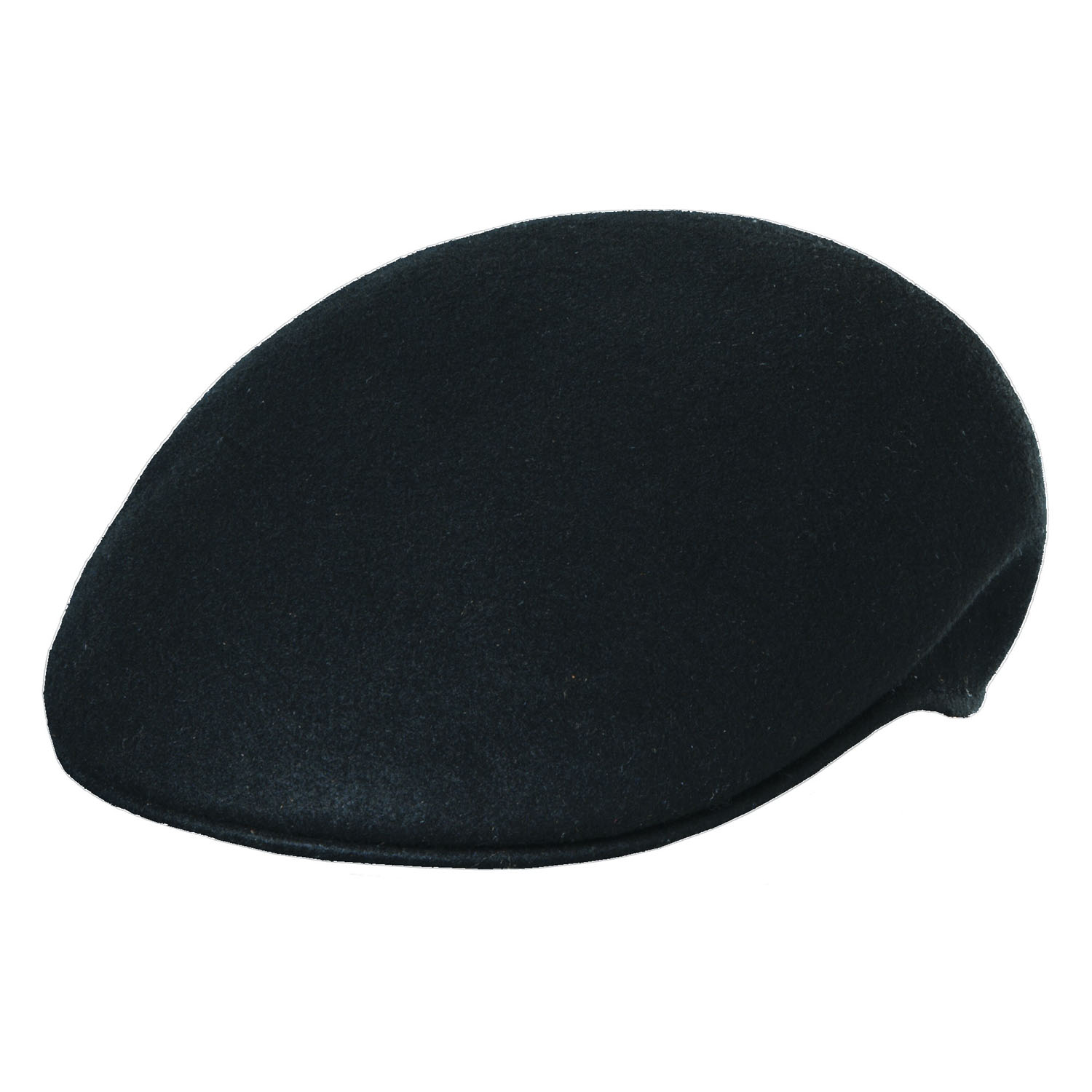 Crushable Wool Felt Ascot Hat - Black