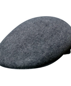 Crushable Wool Felt Ascot Hat - Charcoal