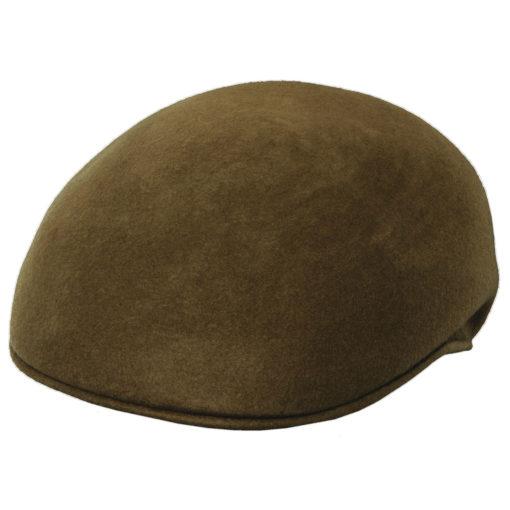 Crushable Wool Felt Ascot Hat - Tan