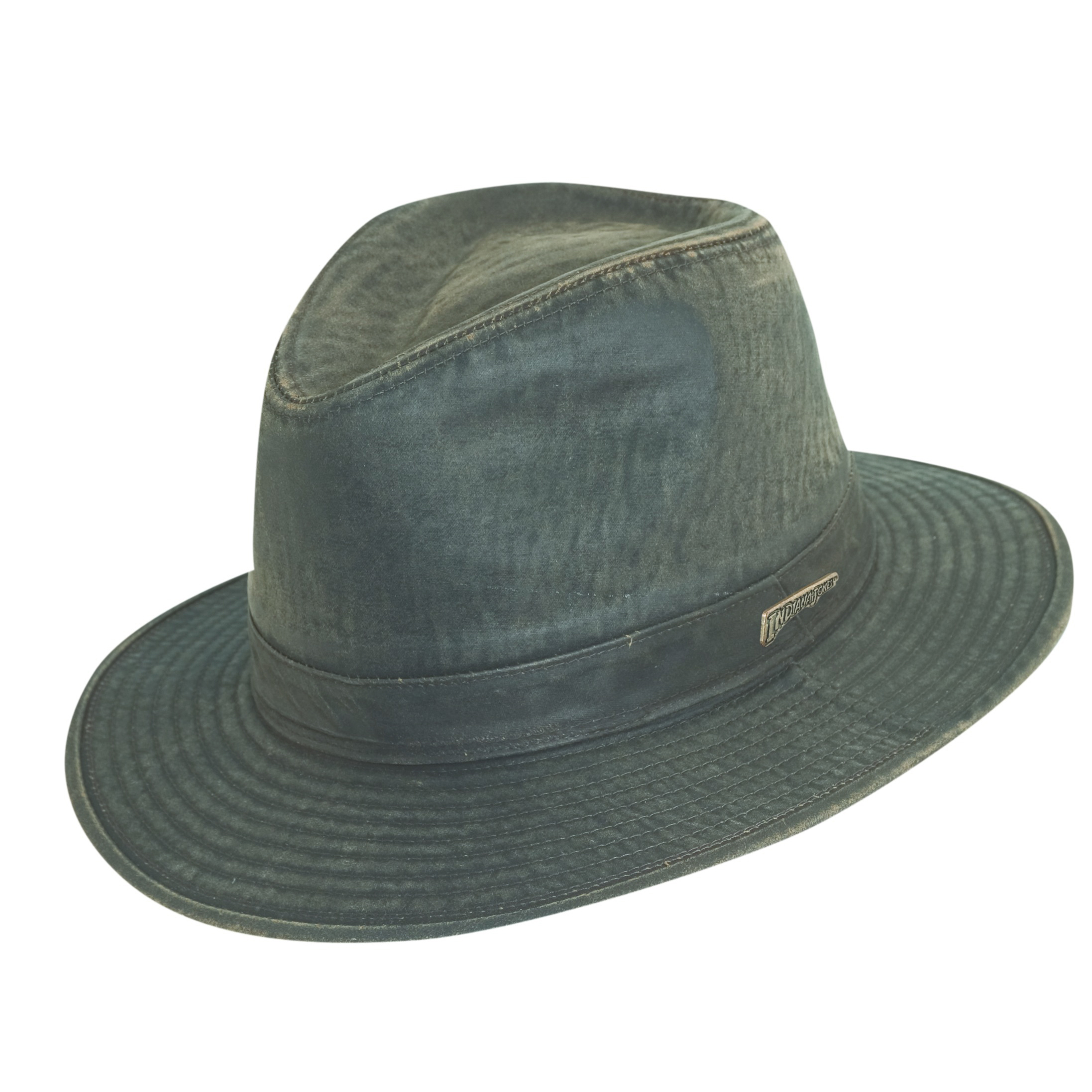 Indiana Jones Weathered Cotton Fedora Hat  7550b214e47