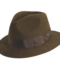 Indiana Jones Wool Felt Fedora Hat with Leather Sweatband