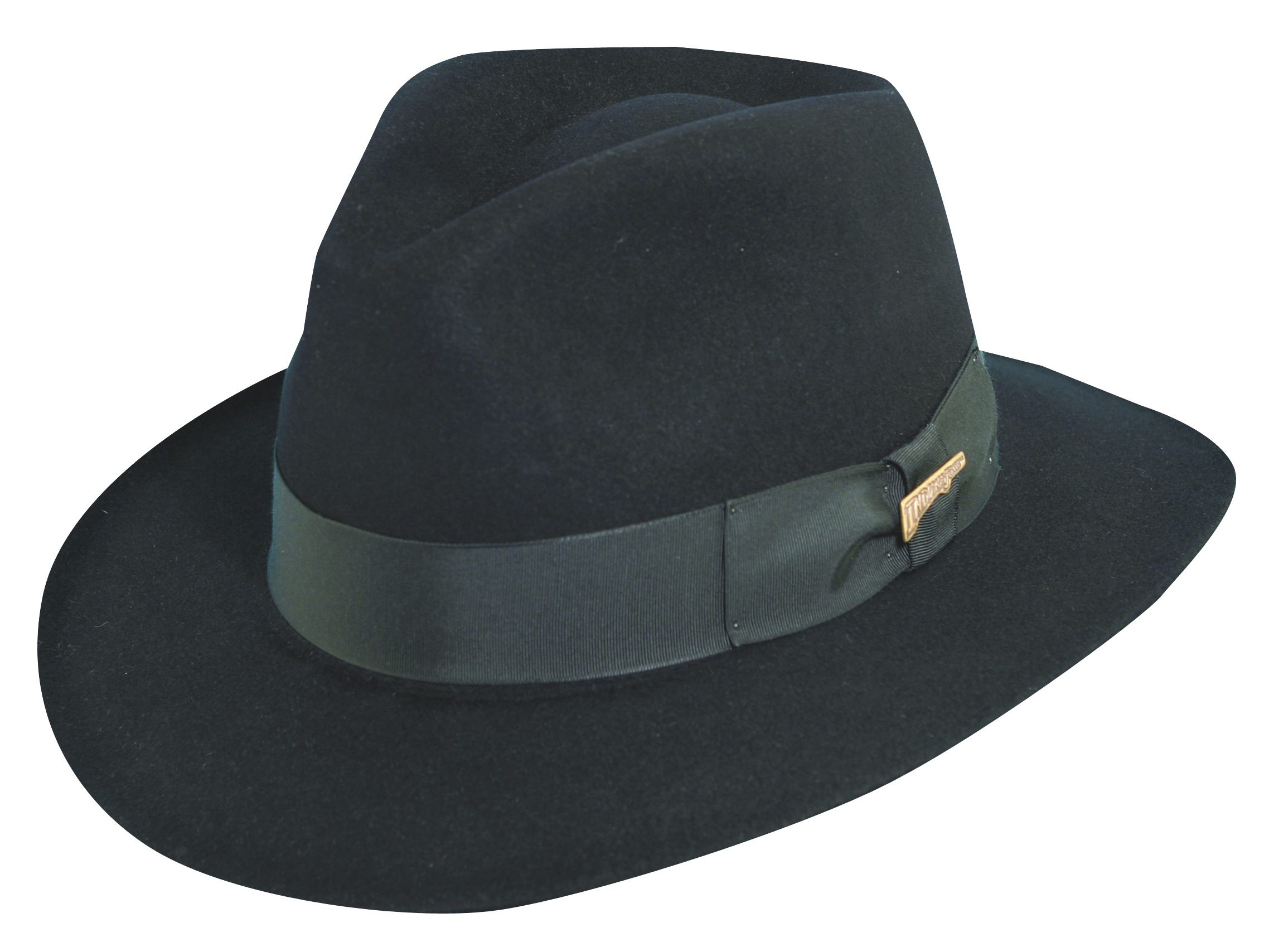 Black Indiana Jones Fur Felt Fedora Hat e8b4bd10afd