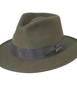Brown Indiana Jones Fur Felt Fedora Hat