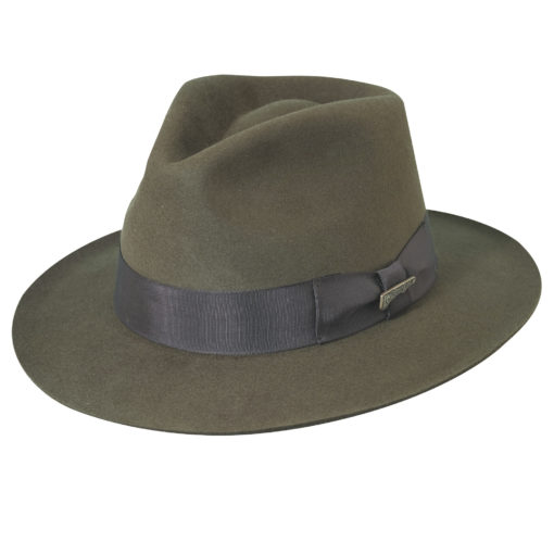 Brown Indiana Jones Fur Felt Fedora Hat