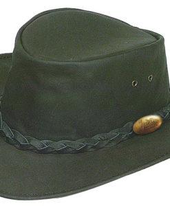 Black Jacaru 'Buffalo' Leather Hat