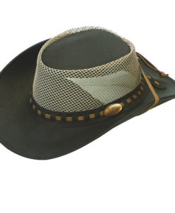 Brown Jacaru Buffalo Hide 'Safari' Hat