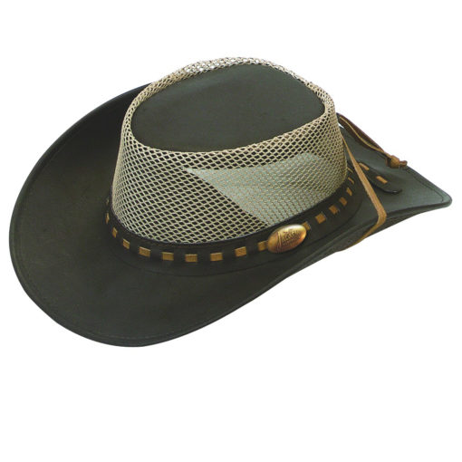 Brown Jacaru Buffalo Hide 'Safari' Hat