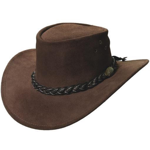 Brown Jacaru 'Wallaroo Suede' Hat