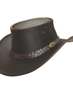 Brown Jacaru 'Wallaroo Oil' Hat
