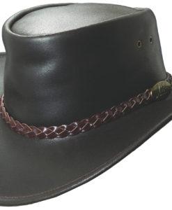 Brown Jacaru 'Swagman' Hat