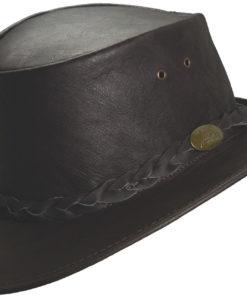 Brown Jacaru 'Kangaroo' Leather Hat