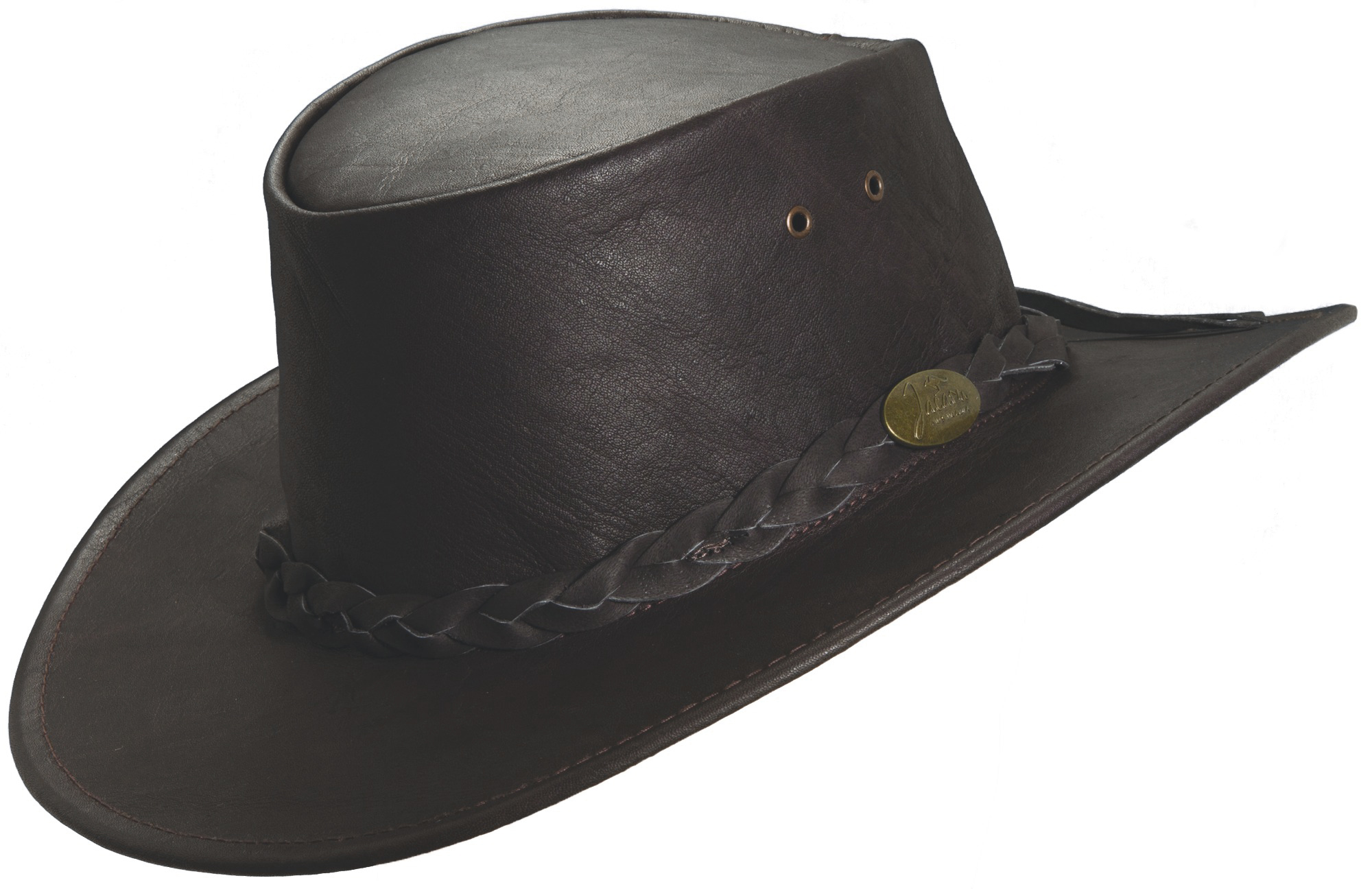 Brown Jacaru  Kangaroo  Leather Hat 35c28ebe08bb