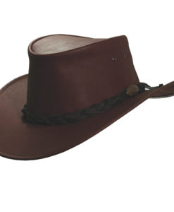 Rust Jacaru  Kangaroo  Leather Hat ad221c8bfef8