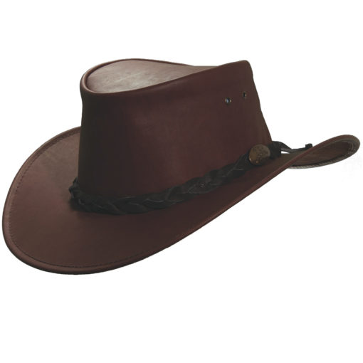 Rust Jacaru 'Kangaroo' Leather Hat