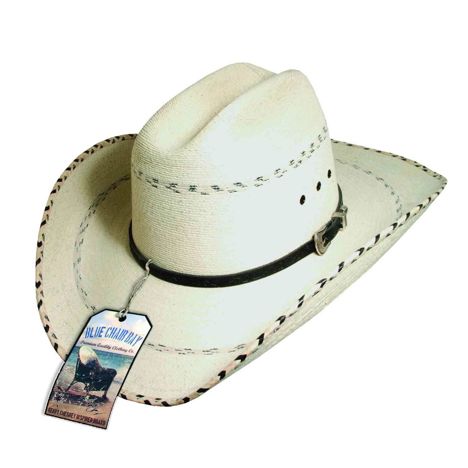Kenny Chesney Signature Cattleman Palm Leaf Hat Natural dcb3fa14655