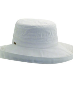 Cotton Sunhat with 3 inch Brim White
