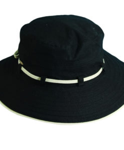 Deluxe Cotton Sun Hat Black