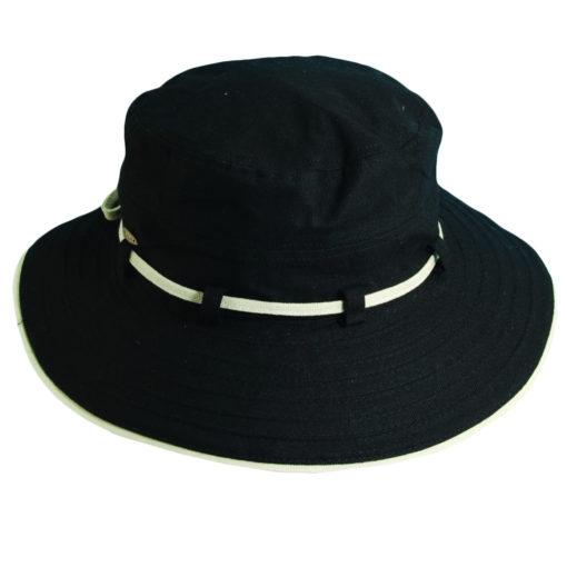 Deluxe Cotton Sun Hat Black