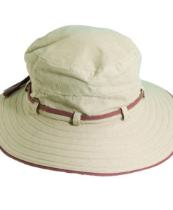 Deluxe Cotton Sun Hat Taupe