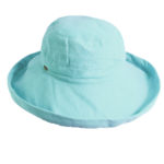 Cotton Sunhat with 2 1/2 inch Brim Aqua