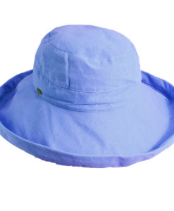 Cotton Sunhat with 2 1/2 inch Brim Periwinkle