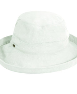 Cotton Sunhat with 2 1/2 inch Brim White
