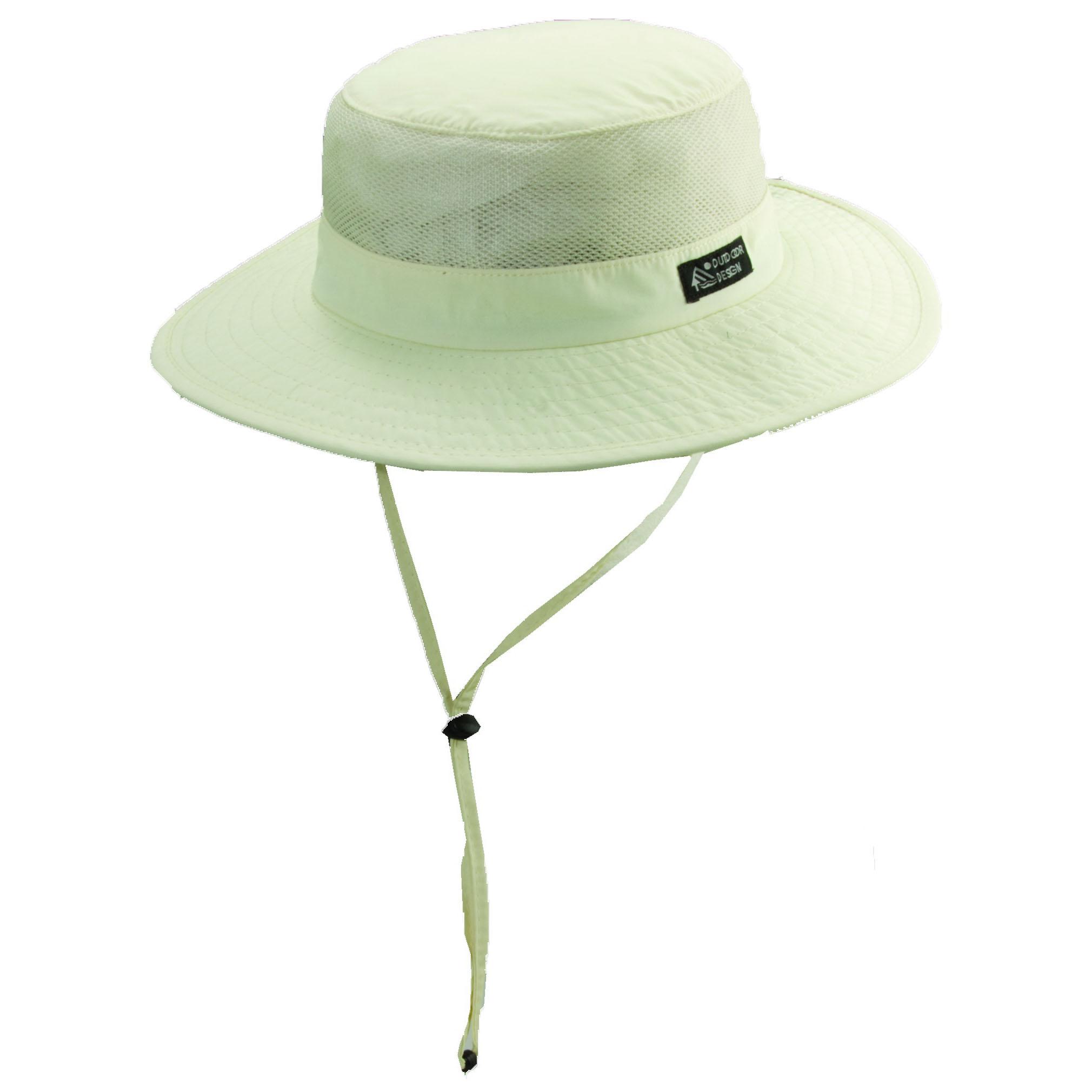 9ecb0be12d086 Supplex Nylon Boonie Hat with Mesh Sidewall Ivory