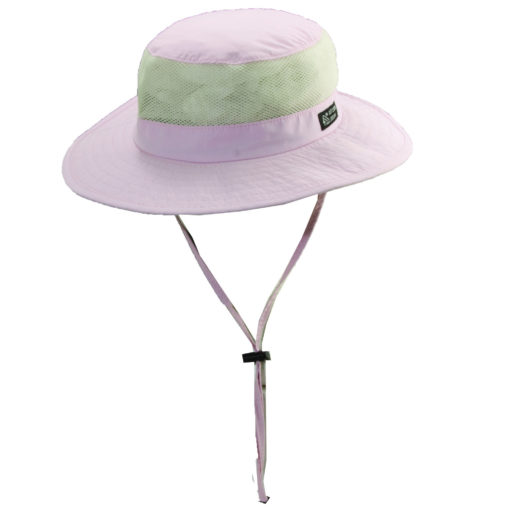 Supplex Nylon Boonie Hat with Mesh Sidewall Light Pink