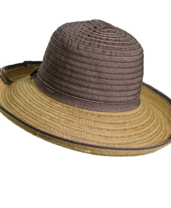 Ribbon-Jute Sun Hat Brown