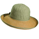 Ribbon-Jute Sun Hat Olive