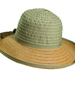 Ribbon-Jute Sun Hat Olive