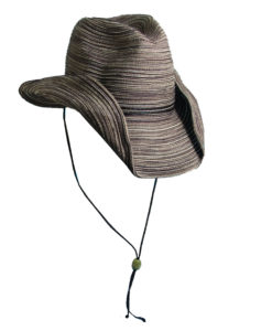 Poly Braid Western Hat - Brown