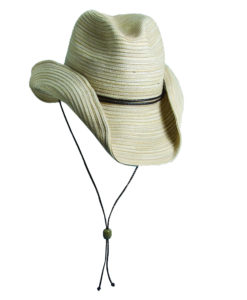 Poly Braid Western Hat - Natural