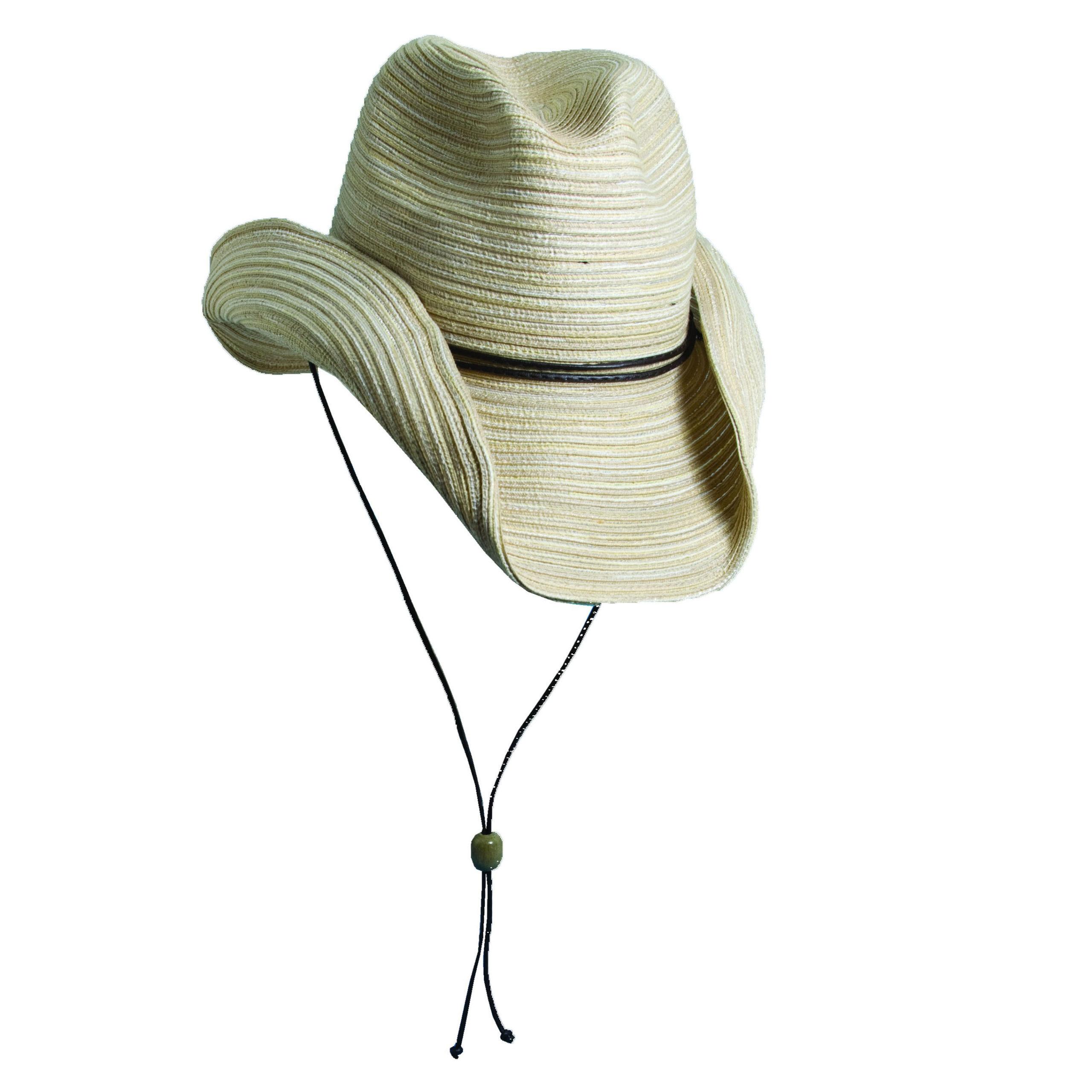 Poly Braid Western Hat - Natural