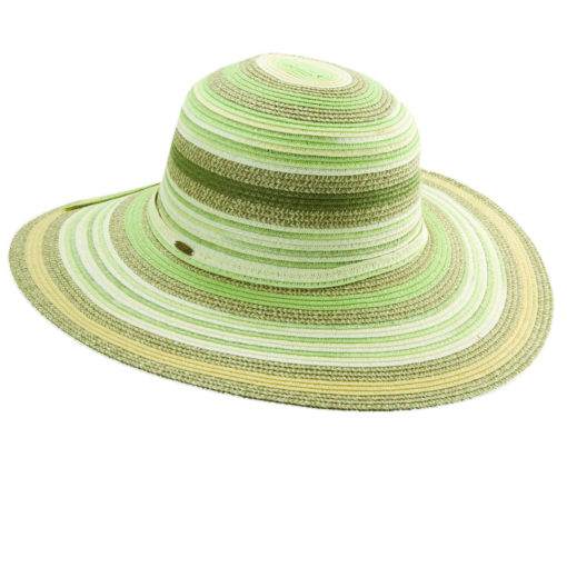 Paper Braid Sun Hat Multi-Colors - Green