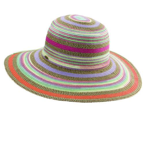 Paper Braid Sun Hat Multi-Colors - Purple