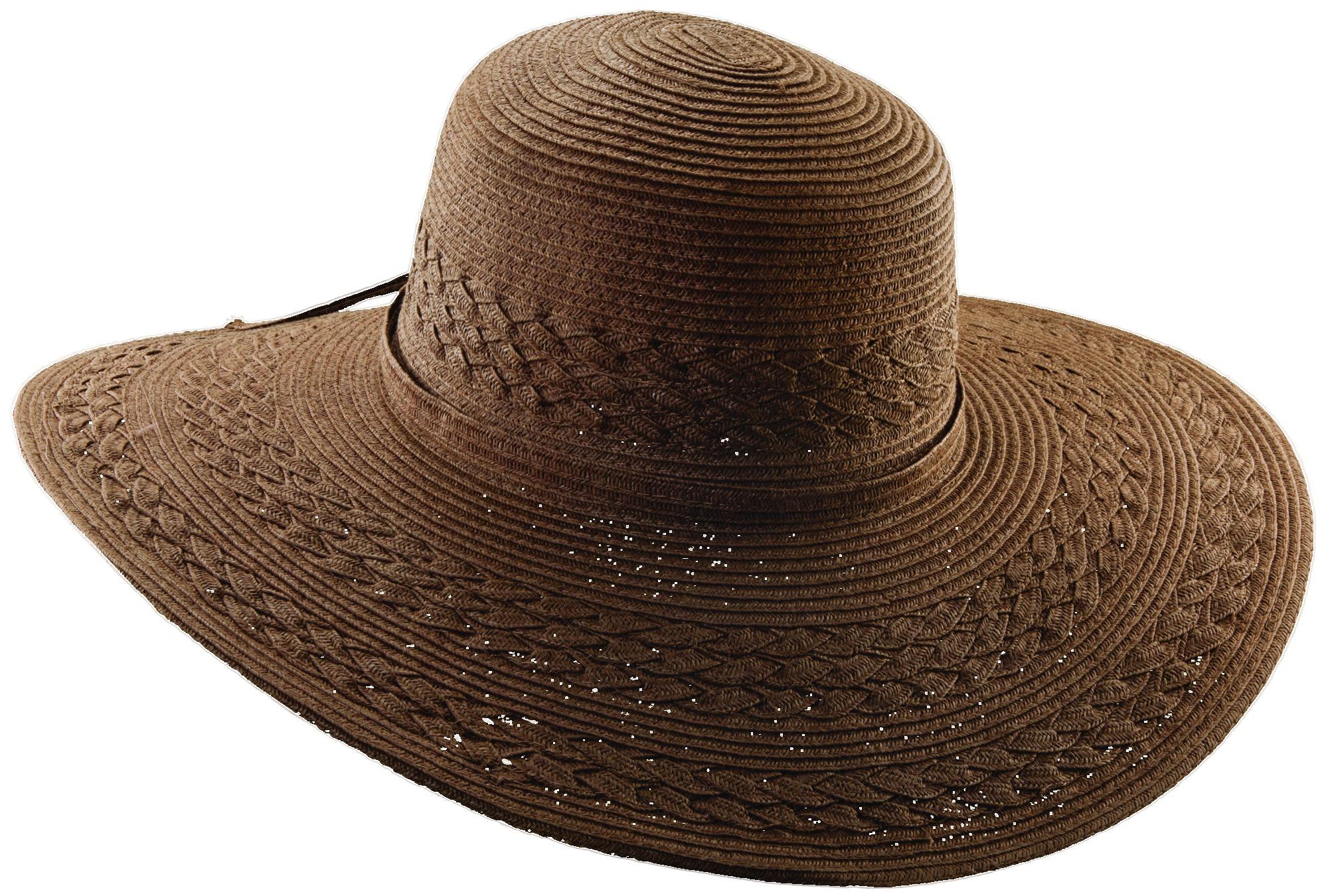 7afd8313022ec Paper Braid Big Brim Hat Brown