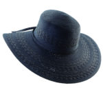 Paper Braid Big Brim Hat Navy